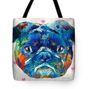 Pug Love Dog Art By Sharon Cummings Tote Bag