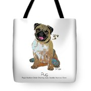Pug Pop Art Tote Bag