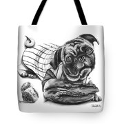 Pug Ruth  Tote Bag by Peter Piatt