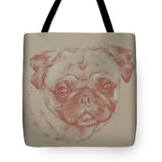 Pug Square Tote Bag