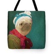 Pugdin Self-portrait Tote Bag