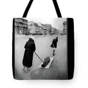 Pulling Dead Body Siege Of Leningrad Soviet Union 1941 Tote Bag