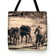 Pulling Hard Tote Bag