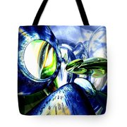 Pulse Of Life Abstract Tote Bag