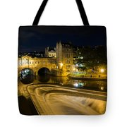 Pulteney Bridge At Night Tote Bag by Trevor Wintle