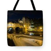 Pulteney Bridge At Night Tote Bag