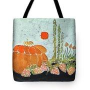 Pumpkin And Asparagus Tote Bag