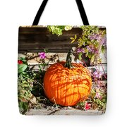 Pumpkin And Flowers Tote Bag