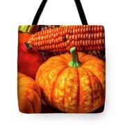 Pumpkin Corn Still Life Tote Bag