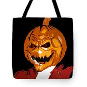 Pumpkin Head Tote Bag