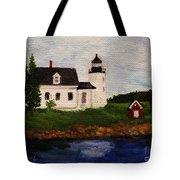 Pumpkin Island Lighthouse Tote Bag