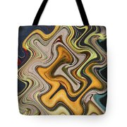 Pumpkin On Fence Abstract # 6822 Wwt Tote Bag