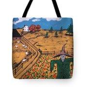 Pumpkin Patch Scarecrow Tote Bag