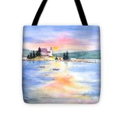 Pumpkin Sunset Tote Bag