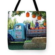 Pumpkin Truck Tote Bag