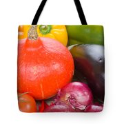 Pumpkin With  Vegetables Tote Bag