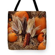 Pumpkins And Corn Tote Bag