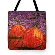 Pumpkins At The Dock Tote Bag
