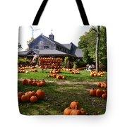 Pumpkins In Martha's Vineyard Farm Tote Bag