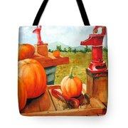 Pumps And Pumpkins Tote Bag