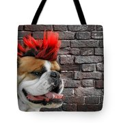 Punk Bully Tote Bag by Christine Till