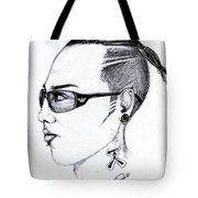 Punk Imaginative Portrait Drawing  Tote Bag