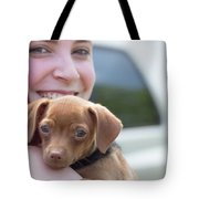 Puppy And Smiles Tote Bag