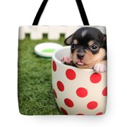 Puppy Cup Tote Bag