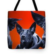 Puppy Dog Panoramic Montage Tote Bag