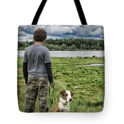 Puppy Guard Majestic Forest Tote Bag