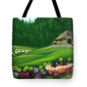 Pups First Hayride Tote Bag