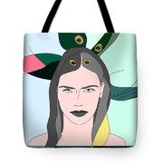 Pure Elixir- Beautiful Woman Portrait Minimalist Drawing Tote Bag