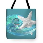 Pure Joy - Starfish With Nautilus Shell Tote Bag