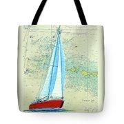 Pure Michigan Boating Tote Bag