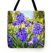 Pure Sapphire Iris Tote Bag