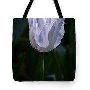 Pure White Petals Tote Bag
