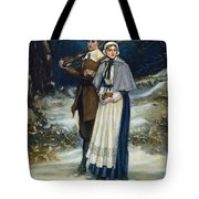 Puritans Going To Church Tote Bag