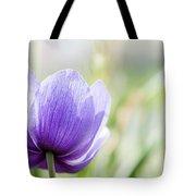 Purple Anemore Flower Tote Bag