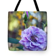 Purple Rose Glow Tote Bag