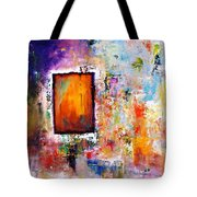 Purple Abstract Oil Painting Purplicious Tote Bag