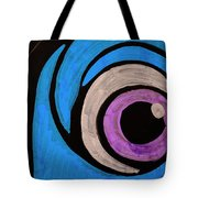 Purple And Blue Eyeball In Saint Augustine Florida Tote Bag