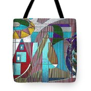 Purple And Blue Tote Bag