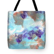 Purple And Blue In The Round Tote Bag