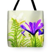 Purple And Blue Iris Tote Bag