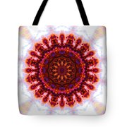 Purple And Gold Flower Tote Bag