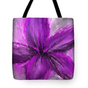 Purple And Gray Art Tote Bag