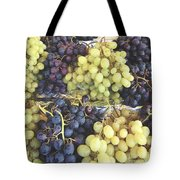 Purple And Green Grapes Tote Bag