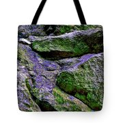 Purple And Green Rock Tote Bag
