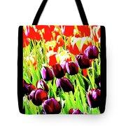 Purple And Peach Tulips 2 Tote Bag