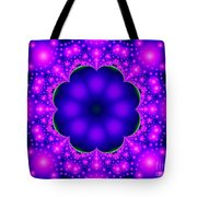 Purple And Pink Glow Fractal Tote Bag